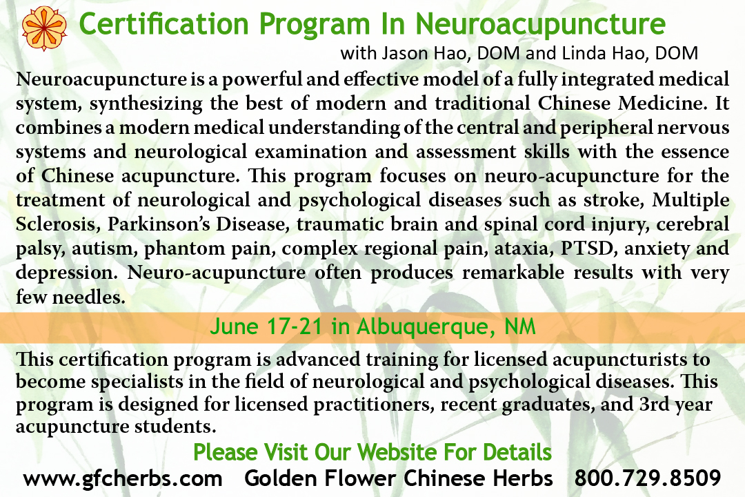 The Certification Program in Neuroacupuncture